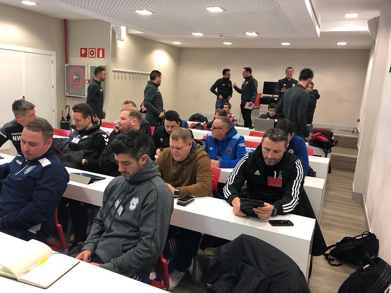 Day 1 | Coaches during workshop led by Athletic Bilbao Head of Methodology Andoni Bombín 2