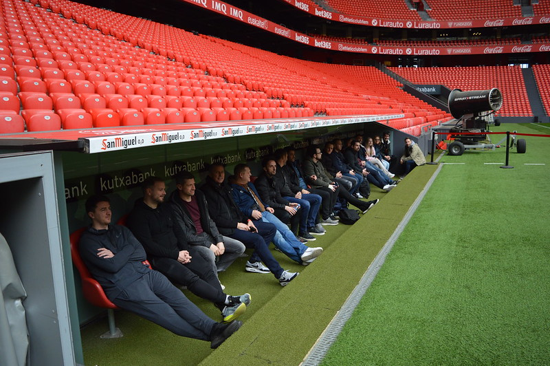 Day 3 | The Coaches experience a guided tour of the San Mamés Stadium 6