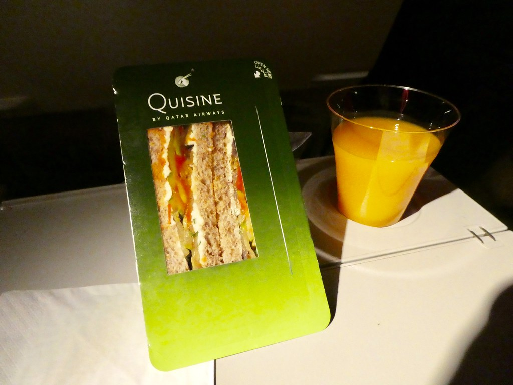 Snack on Qatar Airways