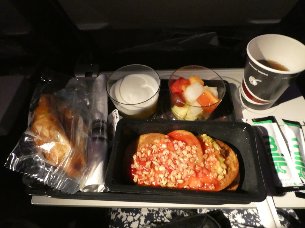 Breakfast on Qatar Airways