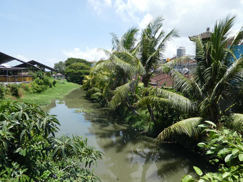 Riverside walk near the Danish monument in Bali