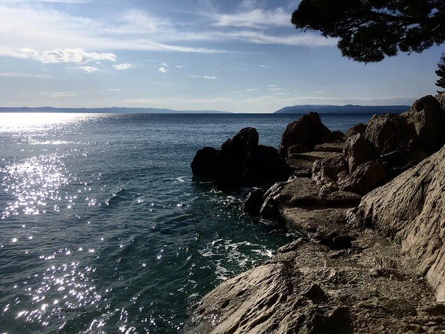 Hiking trail on the Adriatic Seacoast