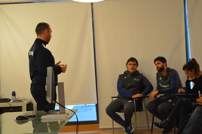 Day 4 | Colchester United U18s Lead Coach Liam Bailey introduces himself to Real Sociedad staff