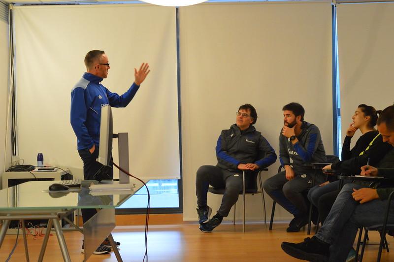 Day 4 | Shrewsbury Town Head of Coach Development Rob Williams introduces himself to Real Sociedad staff