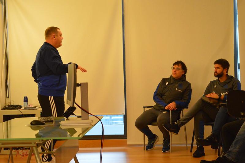 Day 4 | PFA Coach Educator Iain Sankey introduces himself to Real Sociedad staff