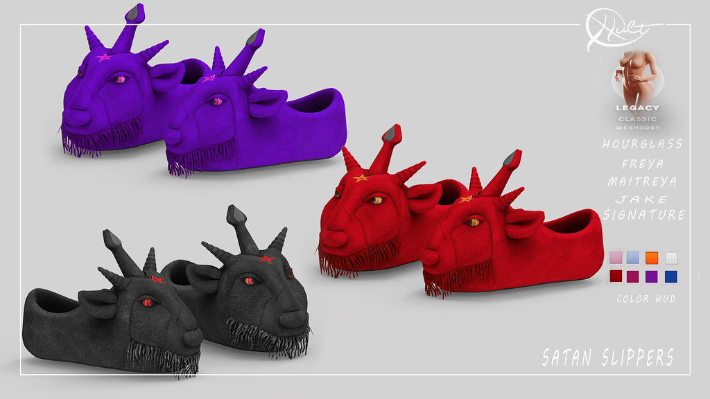 : CULT : Satan Slippers Unisex
