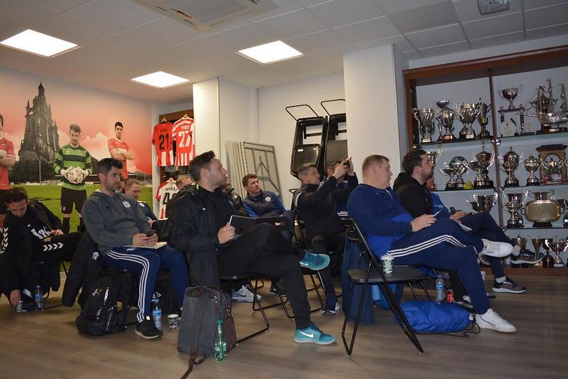 Day 2 | Coaches during a talk from Danok Bat CF Coach Julen Santisteban