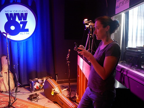Carrie Booher videos Dave Jordan & the NIA - March 9, 2020. Photo by Louis Crispino.