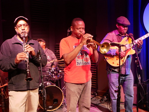 Mitchell Player, Gerald French, Leroy Jones, Detroit Brooks New Orleans All-Stars at WWOZ - March 9, 2020. Photo by Louis Crispino.