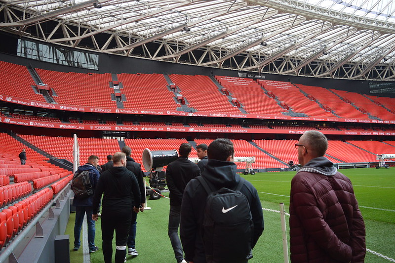 Day 3 | The Coaches experience a guided tour of the San Mamés Stadium 2