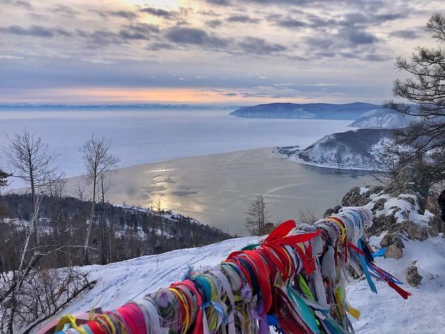 Confluencia del Lago Baikal y el río Angará (Rusia)