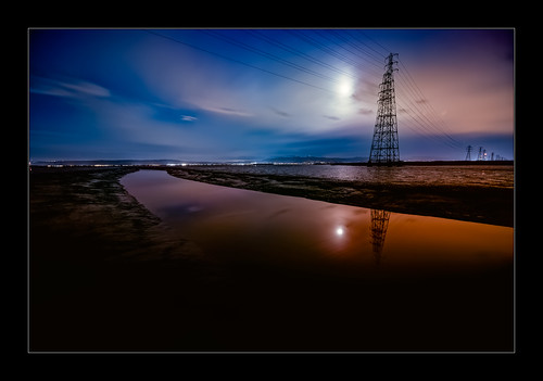 paloaltobaylands sunset moon moonrise sanfranciscobay strommast gittersteigen