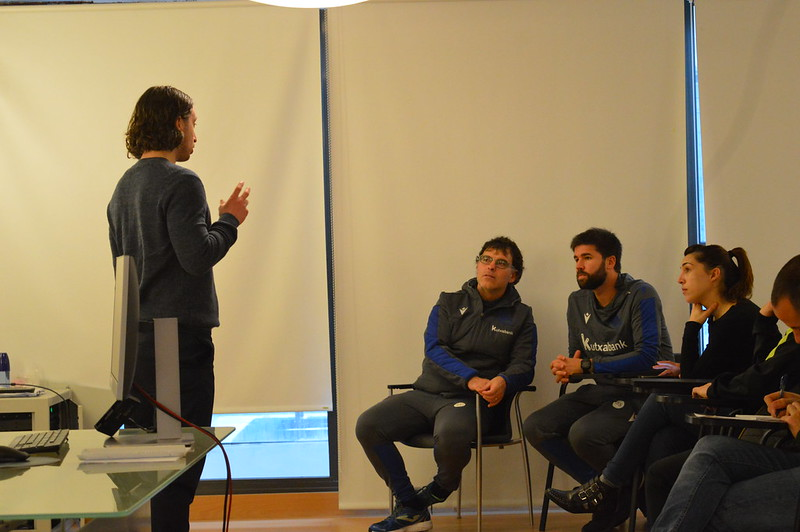 Day 4 | Birmingham City Academy Head of Coaching Stuart English introduces himself to Real Sociedad staff
