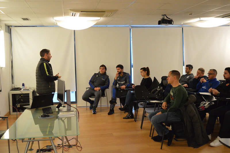 Day 4 | LFE Project Manager Dan Jolley introduces himself to Real Sociedad staff