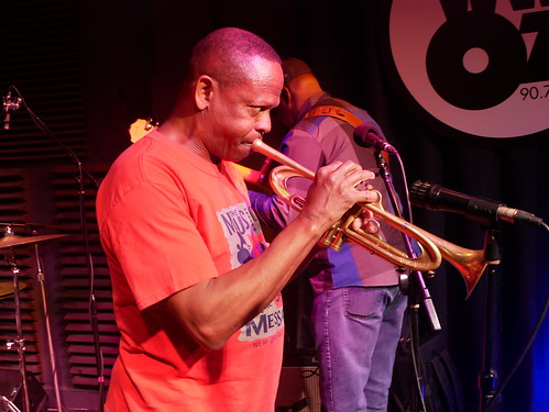 Leroy Jones with New Orleans All-Stars at WWOZ - March 9, 2020. Photo by Louis Crispino.