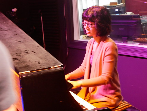 Mari Watanabe with New Orleans All-Stars at WWOZ - March 9, 2020. Photo by Louis Crispino.