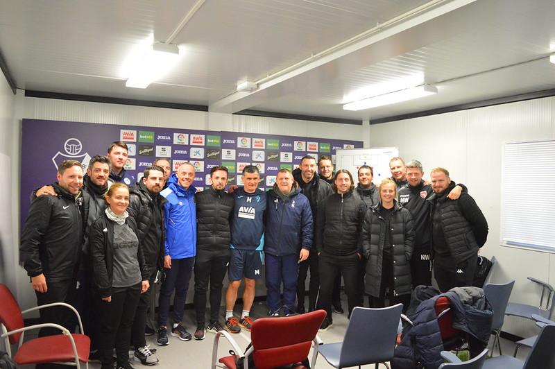 Day 5 | The coaches pose with SD Eibar Head Coach José Luis Mendilibar & Analyst Andoni Azkargorta
