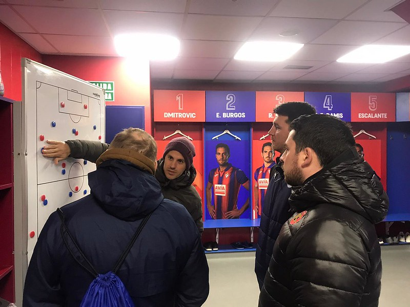 Day 5 | Coaches take a tour of SD Eibar's Ipurua Municipial stadium