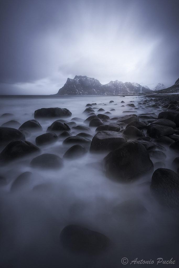 Rocas, agua y mucho frío