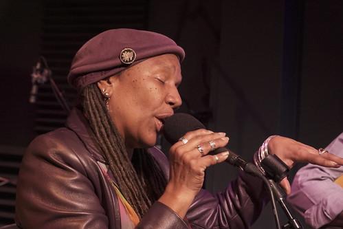 Charmaine Neville at WWOZ - March 10, 2020. Photo by Leona Strassberg Steiner.