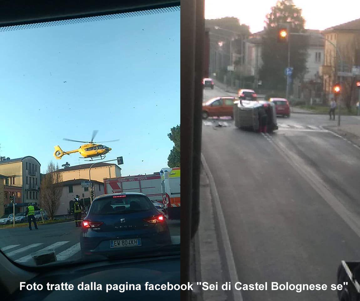 Incidente questa mattina sulla via Emilia all'incrocio con Viale Umberto I