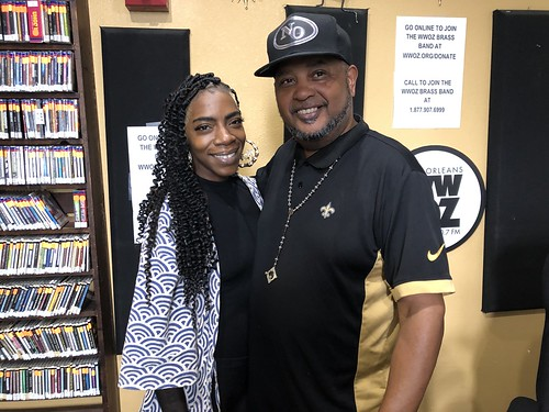 Cole Williams and Action Jackson at WWOZ - March 10,  2020. Photo by Carrie Booher.