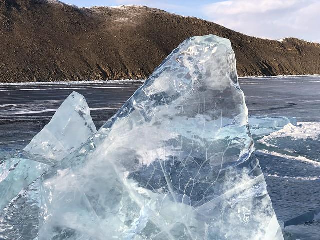 Hielo en el Lago Baikal