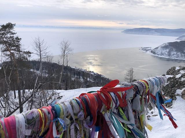 Nacimiento del río Angará en el Lago Baikal (Rusia)