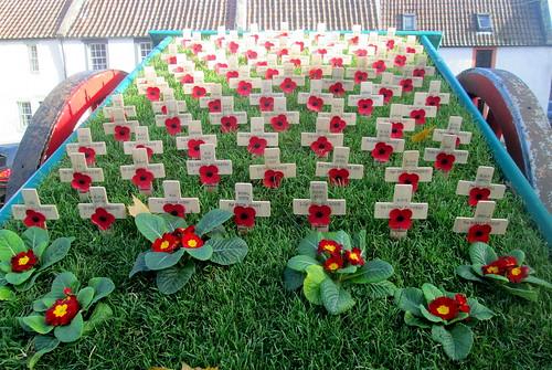 Crosses in Falkland War Memorial Cart