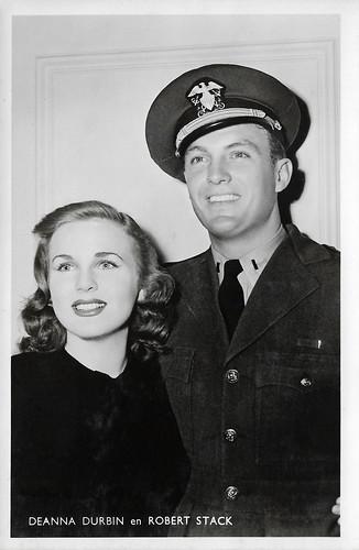 Deanna Durbin and Robert Stack in Nice Girl? (1941)