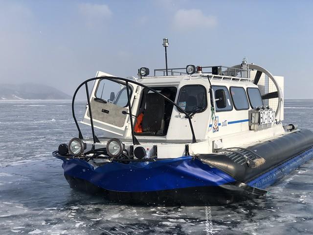 Aerodeslizador (hovercraft) con el que recorrimos el Lago Baikal en invierno