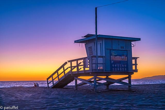 Lifeguard Tower during Sunset