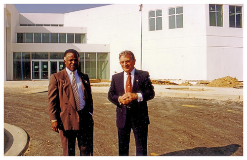 Two union presidents at new transit hall: 1990 | by Washington Area Spark