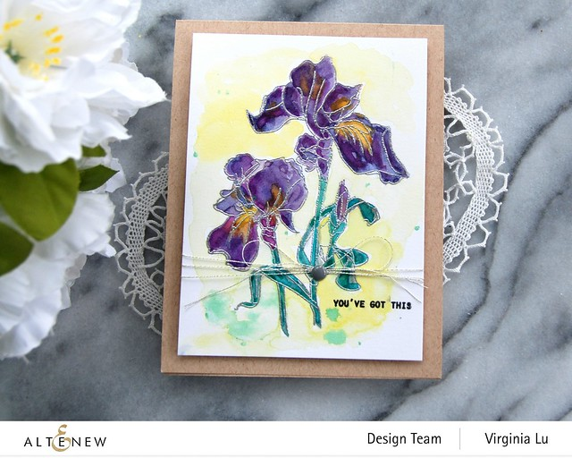Altenew-Paint-A-Flower-Iris-Virginia#4