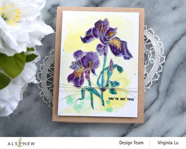 Altenew-Paint-A-Flower-Iris-Virginia#4