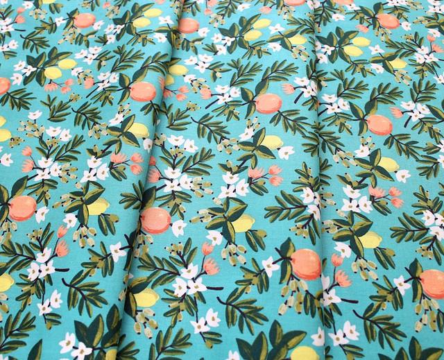 COTTON+STEEL Primavera RP300-TE3 Citrus Floral Teal