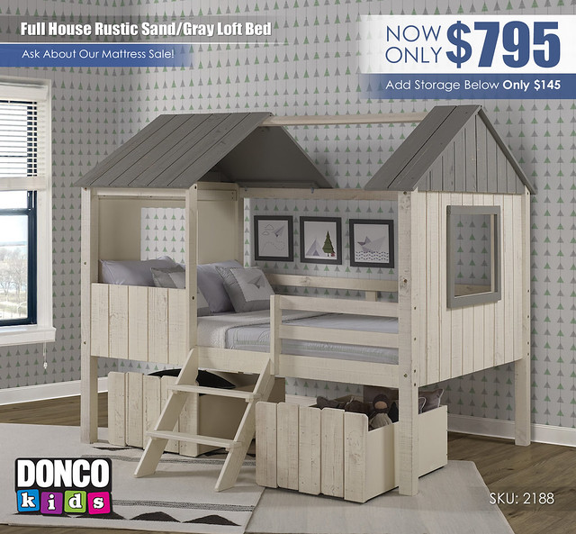 Full House Rustic Sand Gray Loft Bed_Donco Kids_2188-FLRSRG_1381-RS
