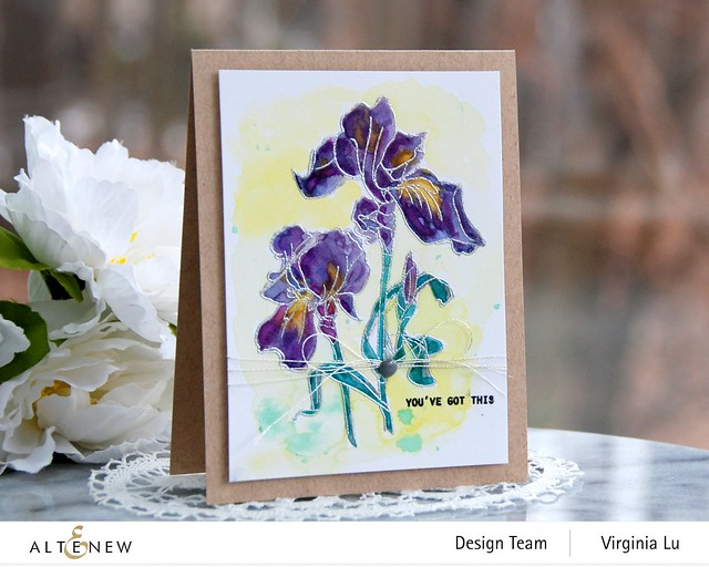 Altenew-Paint-A-Flower-Iris-Virginia#2