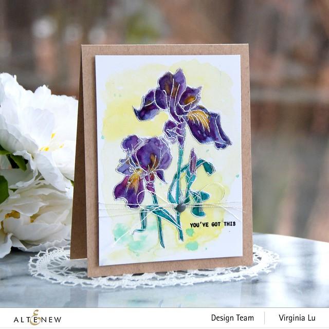 Altenew-Paint-A-Flower-Iris-Virginia#1