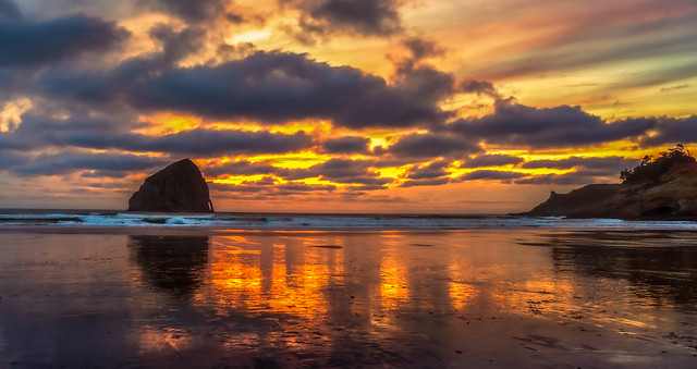 Cape Kiwanda Sunset Reflections