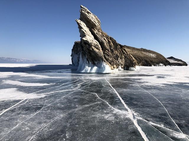 Cabo dragón en la isla Ogoy (Lago Baikal, Rusia)