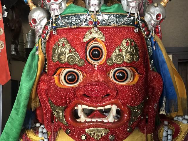 Máscara ceremonial del budismo tibetano en la República de Buriatia (Rusia)