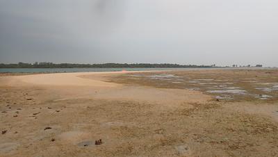 Sand bar at Beting Bemban Besar, Mar 2020