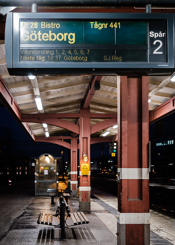 sweden sverige skövde train central station