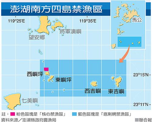 圖13:澎瑚南方四島禁漁區位置圖