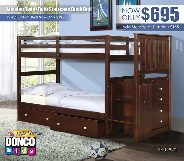 Twin over Twin Mission Staircase Bunk Bed_820