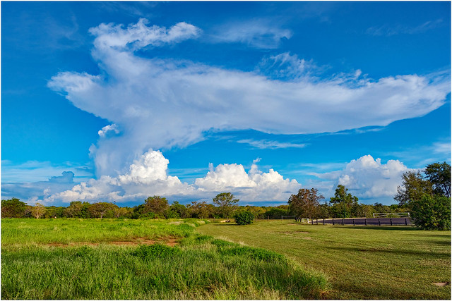 Storm developing over Casuarina Coastal Reserve, Darwin, NT, Australia