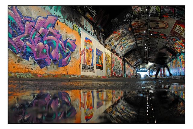 LONDON STREET ART in LEAKE STREET TUNNEL.