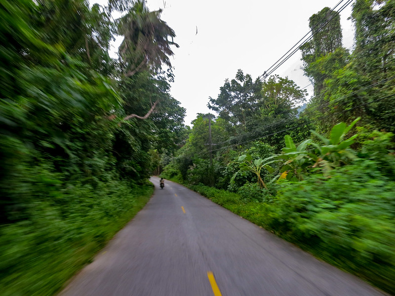 On the road to explore Koh Chang island