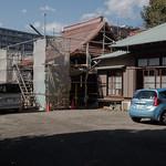 銅屋根葺き替え中